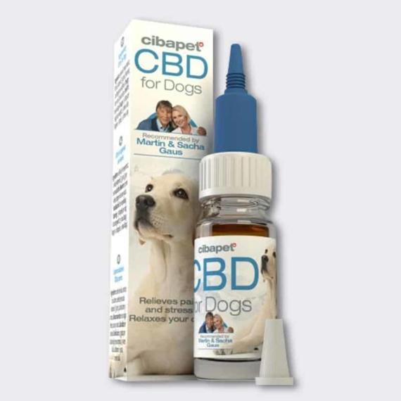 Cibapet CBD oil for dogs dropper bottle and box