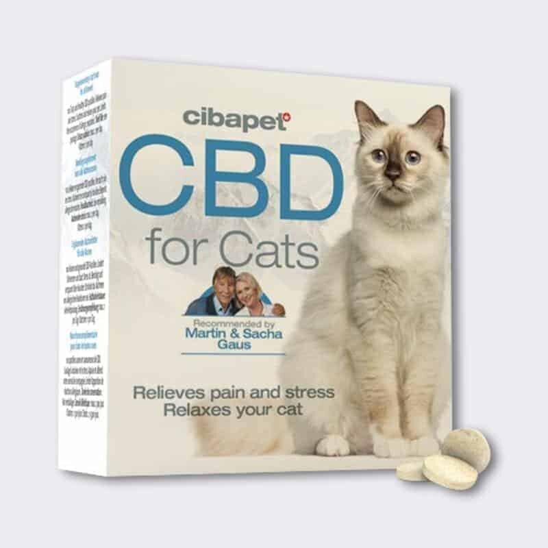 Cibapet CBD Pastilles for Cats, box and tablets